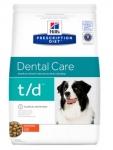 Hill's Diet t/d для собак Профилактика зубного камня, 3 кг