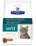Hill's Diet w/d для кошек Лечение диабета и контроль веса, 1,5 кг.
