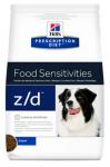 Hill's Diet z/d для собак Лечение острых пищевых аллергий, 3 кг.