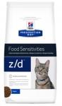 Hill's Diet z/d для кошек Лечение острых пищевых аллергий, 2 кг.