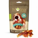Molina лакомство для собак куриные рулетики с бататом, 80г.