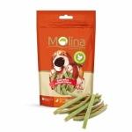 Molina лакомство для собак мелких пород, куриные полоски со шпинатом, 50г.