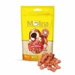 Molina лакомство для щенков косточки с курицей и рисом, 65г.