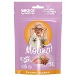 Molina лакомства для щенков и собак мелких палочки из индейкой, 50 гр.