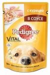 Pedigree пауч с курицей для взрослых собак всех пород, вес 100 гр.