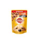 !I Pedigree пауч для собак с телятиной и печенью в желе 85 гр.
