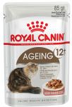 ! Royal Canin Ageing 12+ Корм консервированный для стареющих кошек от 12 лет в соусе, 85 гр.