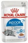 ! Royal Canin Indoor Sterilized 7+ Корм консервированный для стареющих кошек, постоянно живущих в помещении,желе, 85 гр.