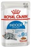 ! Royal Canin Indoor Sterilized 7+ Корм консервированный для стареющих кошек, постоянно живущих в помещении,соус, 85 гр.