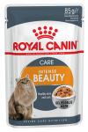 ! Royal Canin Intense Beauty Корм консервированный для взрослых кошек в желе, 85 гр.