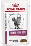 Royal Canin Renal Feline Корм диетический для взрослых кошек с говядиной для поддержания функции почек, соус, 85гр.