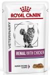 Royal Canin Renal Feline Корм диетический для взрослых кошек с курицей для поддержания функции почек, соус, 85 гр.