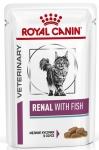Royal Canin Renal Feline Корм диетический для взрослых кошек с рыбой для поддержания функции почек, соус, 85 гр.