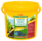 Sera гранулы Cichlid Green XL для крупных растительноядных рыб, 1,3 кг.