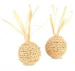 """Triol Игрушка из кукурузных листьев для кошек """"Мяч"""", диаметр 4 см, 2 шт. в упаковке"""