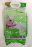 Наполнитель Cat Litter Silitter комкующийся с ароматом яблока, 10 л.