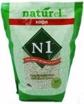 """Наполнитель №1 NATUReL с ароматом """"Кофе"""" растительный комкующийся, 4,5 л."""