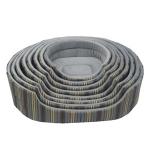 N1 Лежанка, бязь/флок, размеры 80*68*20 см.