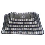 №1 Лежак-матрац, цвет серый/полосатый, размеры 48*31*5 см.