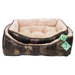 №1 Лежак с подушкой. Материал: флок/махра, цвет: змеиная кожа,  размеры 46*39*17 см.