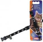 Ошейник Nobby для кошек Пират черный 10мм*20-30см арт.78075