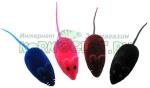 Мышь виниловая с пищалкой, размер 5 см.