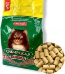 Сибирская кошка Лесной древесный наполнитель для кошек, 5 л.