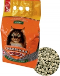 Сибирская кошка Бюджет впитывающий наполнитель для кошек, 5 л.