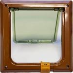 Дверца Барсик для кошек и мелких собак внеш.160х160мм / внутр.145х145мм цвет в ассорт.