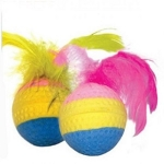 Мяч радужный с пером  d35мм Triol