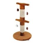 ! Когтеточка-столбик двойной на основании, с игрушками, 40*40*70 см DreamCat арт.040