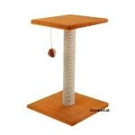 ! Когтеточка-столбик с квадратной лежанкой 35*35*60 см DreamCat K-03