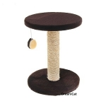 ! Когтеточка-столбик с круглой лежанкой 30*30*40 см DreamCat K-04