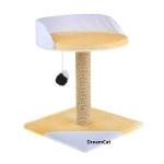 ! Когтеточка-столбик с лежанкой и игрушкой 40*40*55 см DreamCat K-13