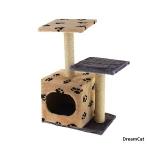 ! Когтеточка-комплекс с домиком и двумя лежанками 45*30*70 см DreamCat KD-08