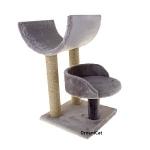 ! Когтеточка-комплекс с двумя лежанками 35*35*62 см DreamCat KD-10
