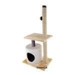 ! Когтеточка-комплекс с домиком, лежанкой и игрушкой 50*35*110 см DreamCat KD-11