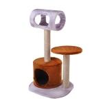 ! Когтеточка-комплекс с домиком, туннелем и лежанкой 42*40*75 см DreamCat арт.028