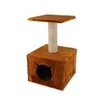 ! Когтеточка-домик со столбиком и лежанкой 40*40*65 см DreamCat арт.021