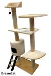 ! Когтеточка-комплекс с домиком, лежанками и лесенкой 60*35*150 см DreamCat арт.031
