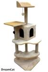 ! Когтеточка-комплекс с домиком, лежанками и игрушками 55*55*160 см DreamCat KD-37