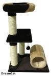 ! Когтеточка-комплекс с двумя лежанками и туннелем 55*40*92см DreamCat KD-44