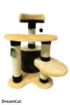 ! Когтеточка-комплекс с домиком и тремя лежанками 55*50*77 см DreamCat арт.013