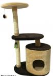 Когтеточка-домик с двумя лежанками и игрушкой 55*35*95 см DreamCat арт.016