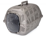 Переноска Имак для животных CARRY SPORT, бежево-серый, 48,5х34х32см