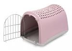 Переноска Имак для животных LINUS, пепельно-розовая, 50х32х34,5см