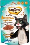 Мнямс пауч для кошек Рыбный фестиваль (лосось, креветки, форель), 100 г