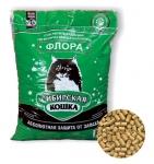 Наполнитель Сибирская кошка Флора древесный, 5 л.