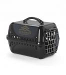Переноска Moderna Luxurious с металлической дверцей, черная 49x32x30h см.
