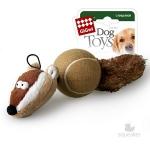 Игрушка для собак Gigwi Барсук с 2-мя пищалками, 32 см.